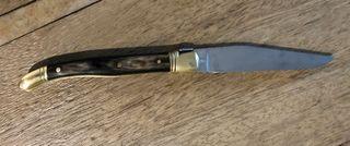 véritable couteau laguiole pliable Manche Corne