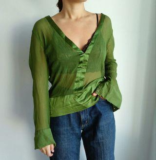 camisa verde talla XL