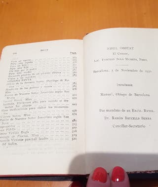 Misal antiguo devocionario 1930