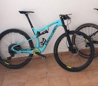 Bicicleta doble de carbono 29 pulgadas.