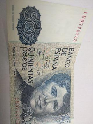billetes 500 ptas año 1979 cada uno
