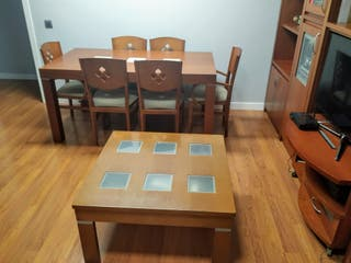 Mesa Cerezo,con 6 sillas,REGALO MESA BAJA ELEVABLE