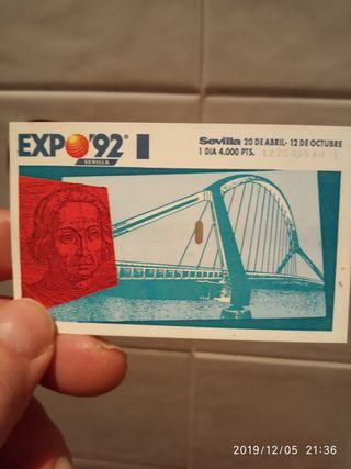 entrada expo92 Sevilla
