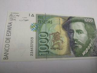 billete 1000 pesetas, cada billete