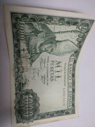 billetes de 1000 ptas año 1965 cada uno