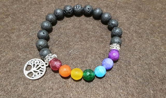pulsera en piedra natural 7 chakras