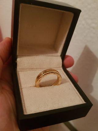 anillo de oro rosa bvlgari hombre