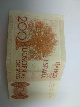 billete de 200 ptas , precio por cada billete