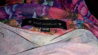 Camisa chica flores semitransparente talla M