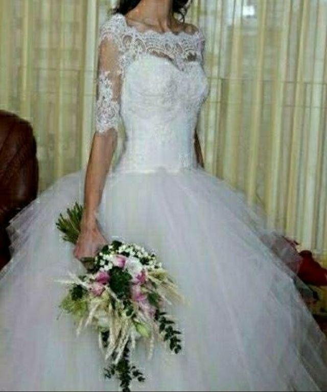 Vestido de novia, talla 36/38 ajustable de segunda mano