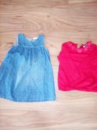 vestido & camiseta zara