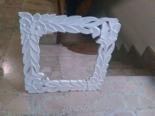 elegante espejo madera nuevo