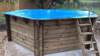 Montaje Cubierta de lona para piscina
