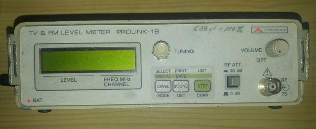 Medidor de campo TV y FM