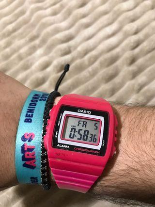 Reloj Casio vintage rosa