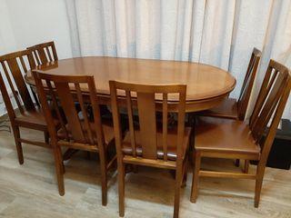 mesa de comedor e 6 sillas