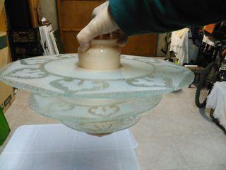 Lámpara antigua, 4 piezas. 24 cm alto