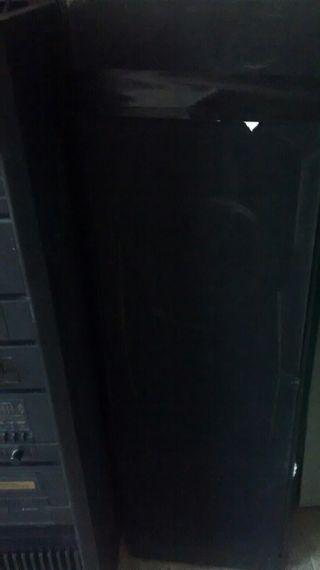 amplificador con doble casete con dos altavoces