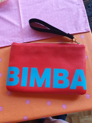 Bolso mano/neceser Bimba y Lola piel original nuev