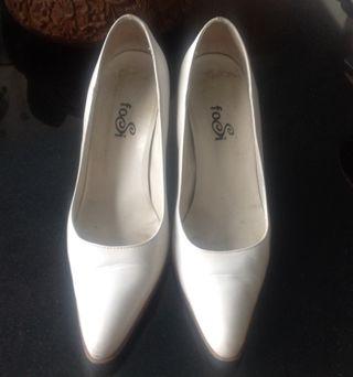 Zapato blanco mujer