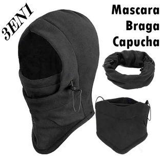 BRAGA MASCARA CAPUCHA 3 EN 1.