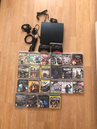 Pack PS3, juegos y accesorios