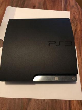 PS3 slim 160 GB con accesorios y 20 juegos regalo