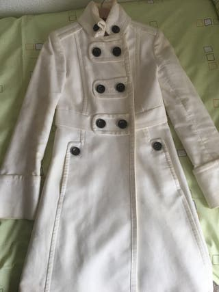 Abrigo largo Mango Xs blanco