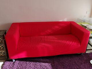 SOLO FIN DE SEMANA sofá rojo Ikea