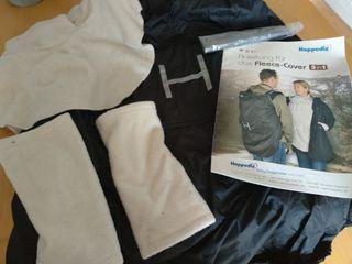 Cobertor de porteo 3 en 1 Hoppediz Beige/Negro
