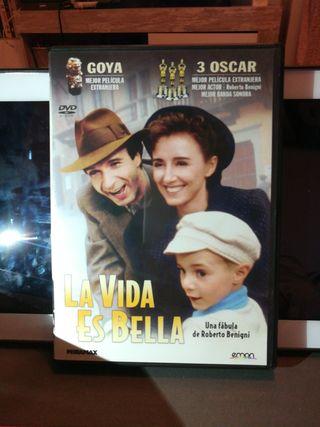 DVD película La vida es bella de Roberto Benigni