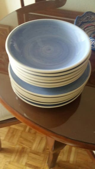 juego 6 platos soperos y 6 llanos