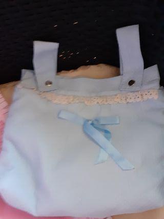 Colchita y bolso para carrito de muñecas