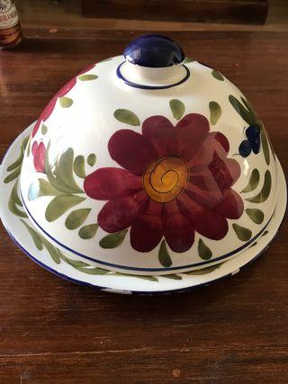 antigua quesera de cerámica Manises