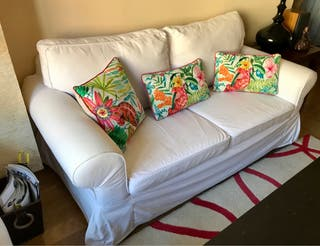 Sofá de 2 plazas blanco IKEA