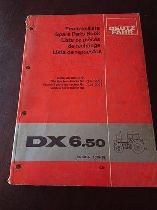 CATALOGO RECAMBIOS ORIGINAL TRACTOR DEUTZ DX 6.50