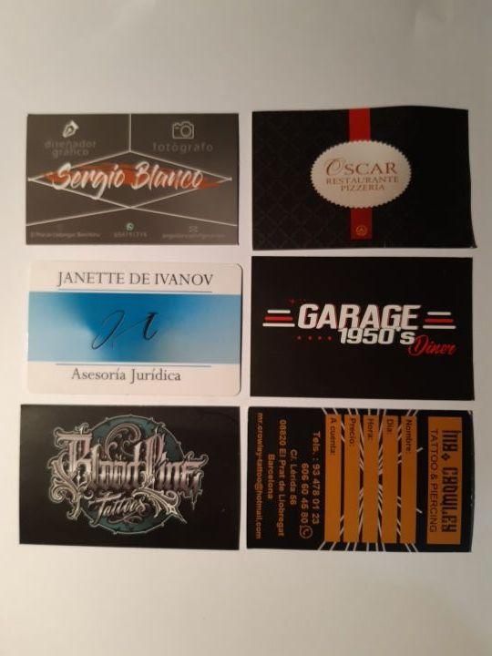 Diseño e impresión de tarjetas y flyers