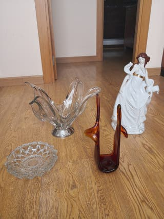 Objetos de decoración de cristal