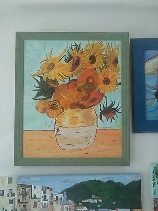 vendo óleo los girasoles de van Gogh