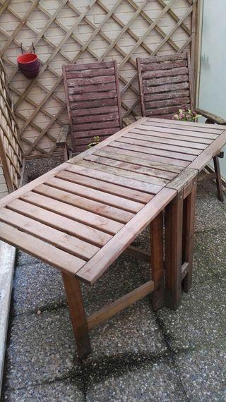 Muebles de jardín mesa y sillas