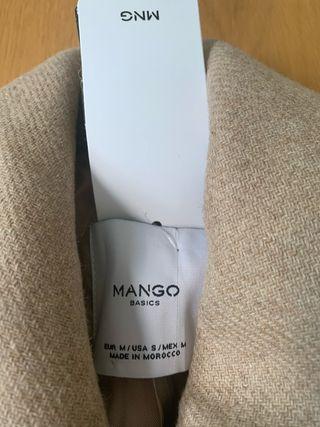 Abrigo beige Mango