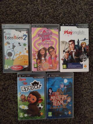5 juegos para la PSP