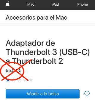 Conector USB-C a Thunderbolt Apple NUEVO