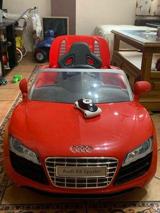 Coche eléctrico Audi r8 spyder