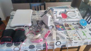 Wii + juegos + board + accesorios