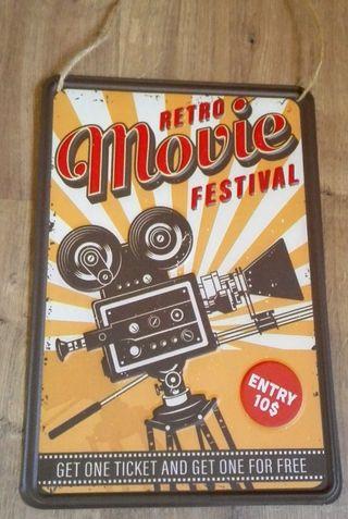 Cartel de decoración cine Retro.