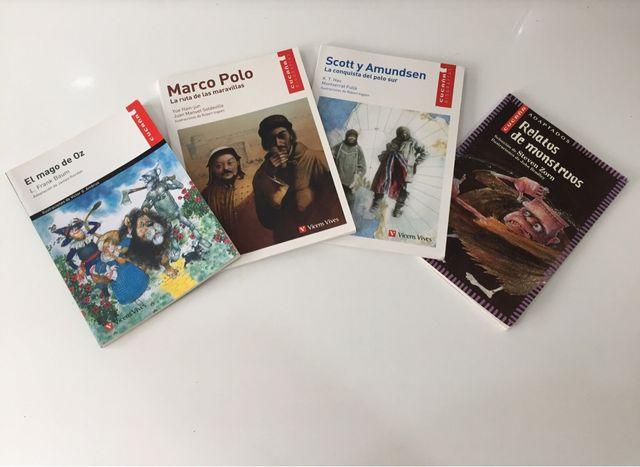 4 Libros relatos. Vicens Vives.