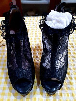 zapatos de encaje,