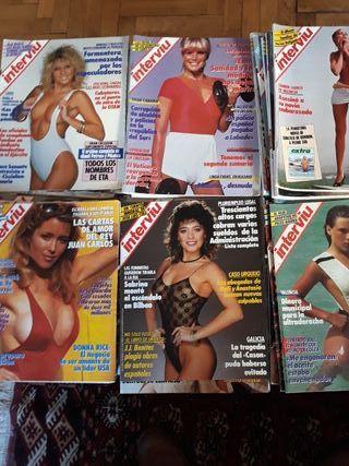 28 revistas Interviú de los años 80