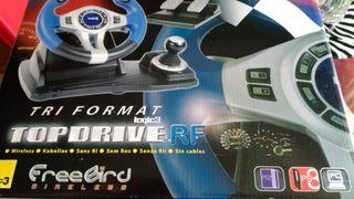 volante logic3 top drive rf tri format pc/ps2/ps3